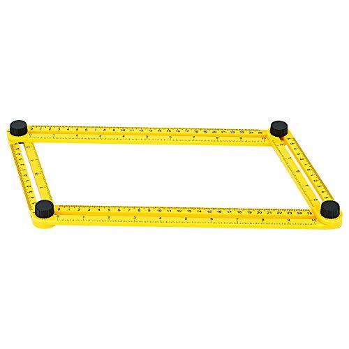 GYMAN Multi-Angle Measuring Ruler Angle Izer Template Tool for Handyman Builders Craftsman DIY-ER by GYMAN