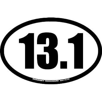 13 1 half marathon oval car magnet