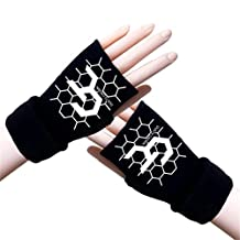 Gumstyle Guilty Crown GC Winter Fingerless Gloves Cosplay Arm Warmers Black