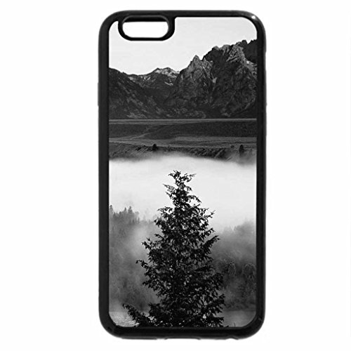 iPhone 6S Case, iPhone 6 Case (Black & White) - river in the mist