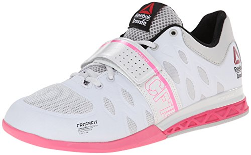 Reebok Women's Crossfit Lifter 2.0-W, Porcelain/Steel/Electro Pink/Black/Happy, 10 M US