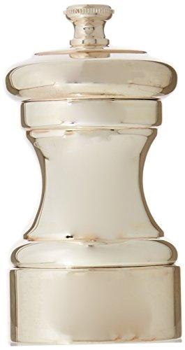 Peugeot Mignonnette Silver-Plated Salt Mill, 10cm/4-Inch