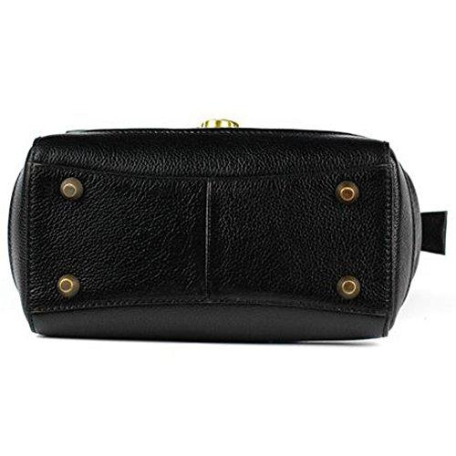 Elegante La Primera Capa Para Leathario Damas Estilo Bolso Diseño Cuero Clase Negro Oriental De Superior xqq14Z