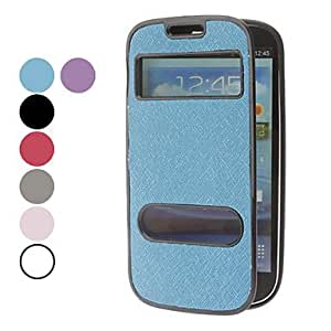 Solid Color Litchi Pattern TPU Soft Full Body Case for Samsung Galaxy S3 I9300 (Assorted Colors) , Blue