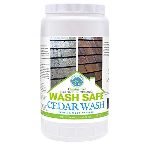 (Wash Safe Industries CEDAR WASH Eco-Safe and Organic Wood Cleaner, 3 lb)
