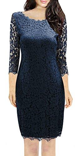 juniors 3/4 sleeve lace dress - 9