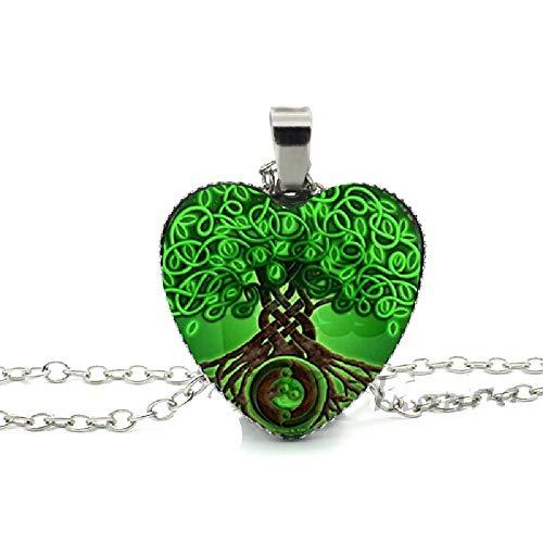 Divergent Heart Necklace Divergent Tree Pendant Jewelry Women Heart Necklace Art Glass Necklace - Divergent Party Birthday Supplies