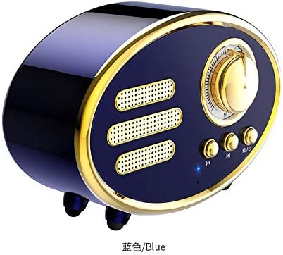Del CID F03 Wireless Bluetooth Retro Speaker Speaker Portable with FM Radio USB /& Aux Line-in Support Apple//Android Built-in Mic for Hands-Free Phone Call 4-5 Hrs Playtime Sapphire Blue TF Card