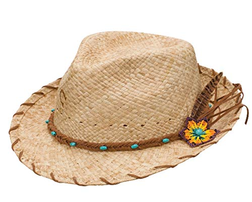 Charlie 1 Horse CSSNKS-342481 Sun Kissed Straw Fedora in Natural (Large)