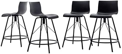 Amazing Haobo Metal Bar Stools Counter Stools Chairs Plastic Seat Swivel Stools Set Of 4 For Indoor Outdoor Home Kitchen Bar Counter Business 30 07 Ncnpc Chair Design For Home Ncnpcorg