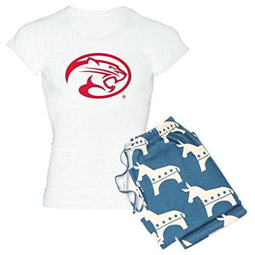 CafePress Houston Cougar Mascot Logo Womens Novelty Cotton Pajama Set, Comfortable PJ Sleepwear (Mascot Houston Pants)