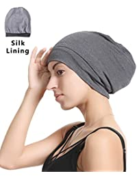 4b2e5a909f4 Premium Sleep Cap Beanie Slap Hat – Satin Silk lined