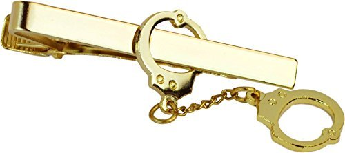 Tactical 365 Operation First Response Police & Military Tie Clips and Pins (Handcuff Clip, Gold)
