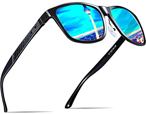 ATTCL Men's Hot Retro Metal Frame Driving Polarized Wayfarer Sunglasses Al-Mg Metal Frame Ultra Light