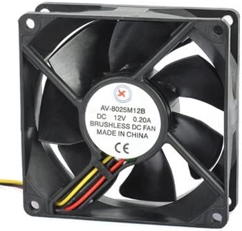 Happyshopping 9 inch 9025 2-pin Computer Cooling Fan AV-8025M12B DC 12V 0.2A Brushless Cooling Fan The Fan is Reliable in Quality and has a Long Service Life.