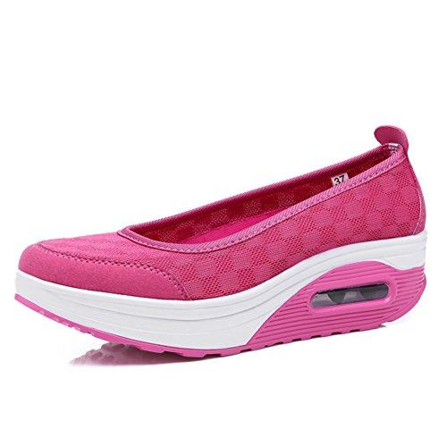 Transpirable zapatos zapatillas Ocasionales Luz Plataforma Señoras Malla Altos Las De A Zapatos vUZgxq