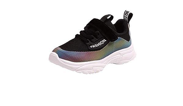 LANSKIRT_Zapatos Zapatillas Niño Deportivas, Malla Estampados para Niñas Calzado Deportivo para Correr Zapatillas Running de Cómodas y Transpirables para Escuela y Ejercicio: Amazon.es: Ropa y accesorios