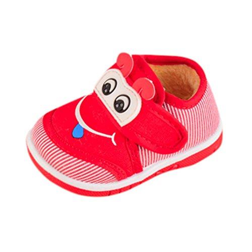 Baby Schuhe Jamicy® Kleinkind Neugeborene Karikatur Baumwolle Krippe Stiefel Soft Sohle Prewalker Warm Schuhe For Baby Mädchen Jungen Rot