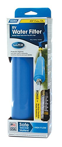 Camco 40043 Tastepure Water Filter With Flexible Hose Protector