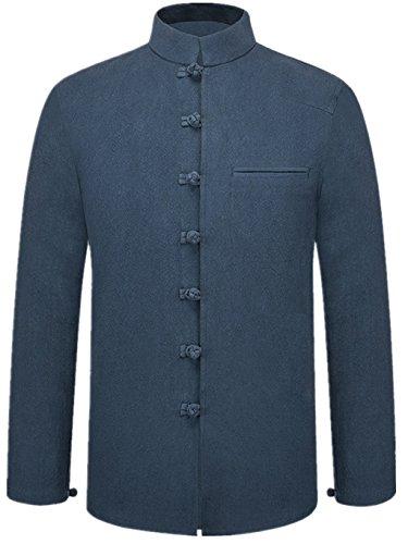 Tang Suit National Costume Retro Jackets Coats Men's dress Full dress Gentleman by BAOLUO-Tang Suit (Image #3)