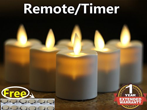 6 flameless candle with timer - 6