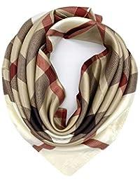 Silk Like Scarf Women's Fashion Pattern Large Square Satin Headscarf