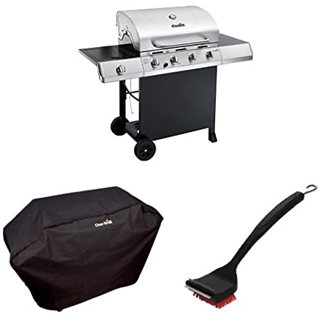 Char-Broil Classic 4-Burner Gas Grill + Cover + Brush - 4 Burner Gas Grill