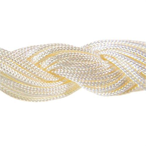24 Mètres Fil Nylon Cordon bijoux 1 mm pour bracelet perles Shamballa tibétain - Beige