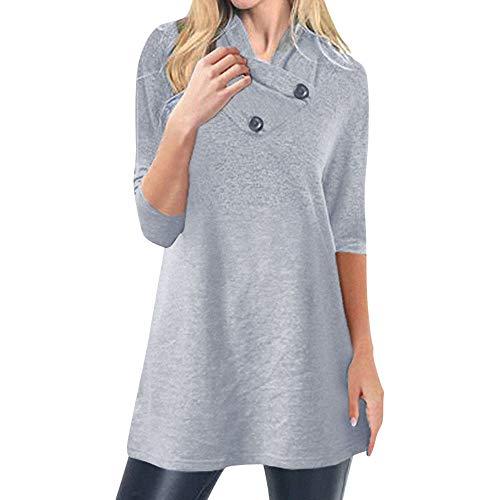 - Women Sweater Top, Sttech1 Warm Button Long Sleeve Sweater Pullover Blouse Shirts Sweatshirt