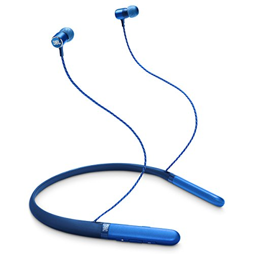 less in-Ear Neckband Headphones with Three-Button Remote and Microphone (Blue) ()