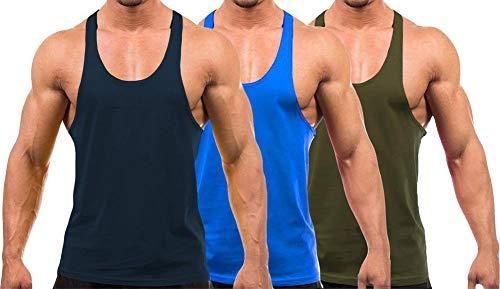 YAKER Men's Blank Stringer Y Back Bodybuilding Gym