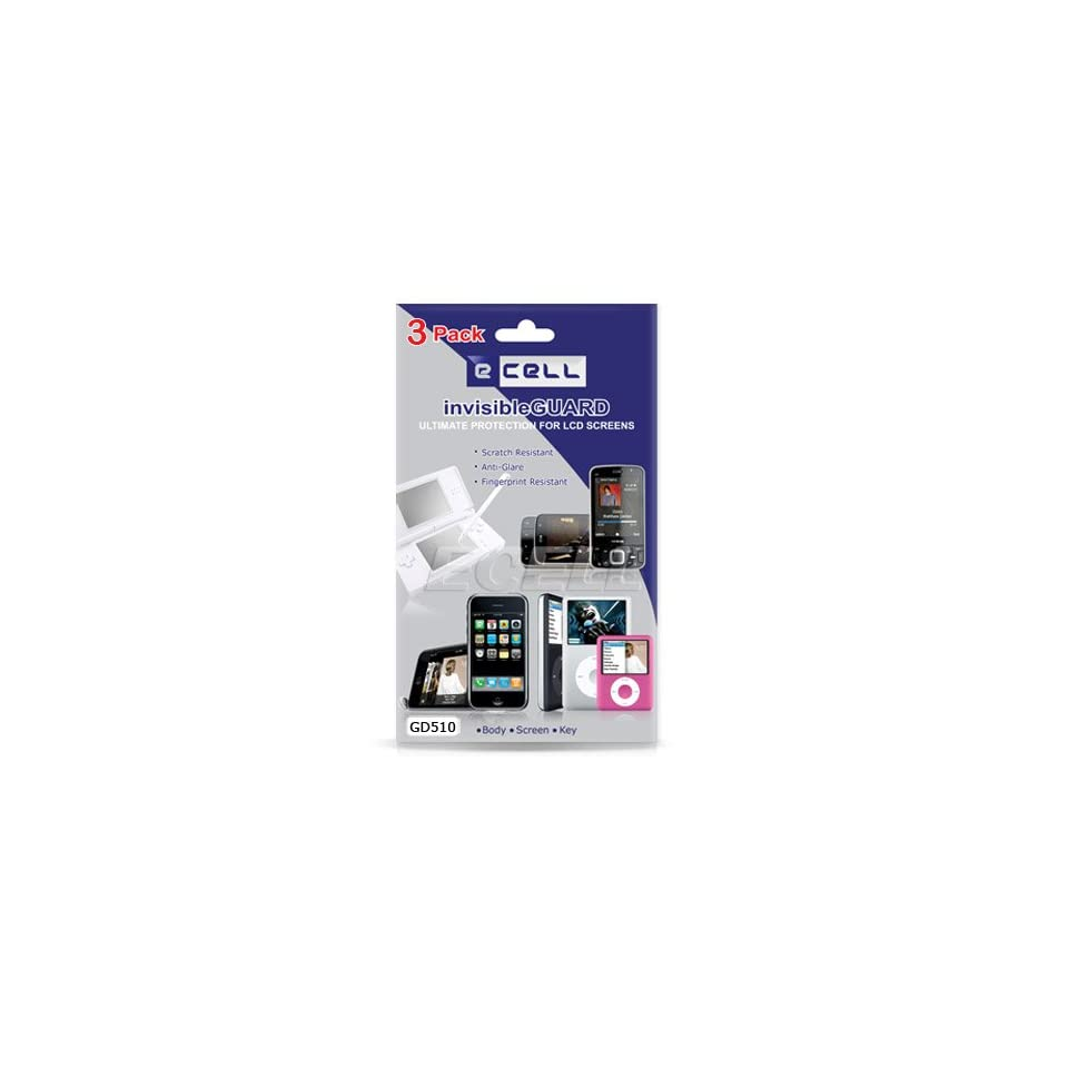Ecell   3 x ANTI GLARE LCD SCREEN PROTECTOR FOR LG GD510 POP