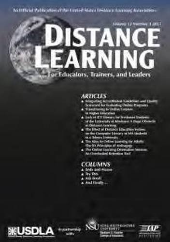 Distance Learning Magazine, Volume 12, Issue 4, 2015 (Distance Learning Journal)