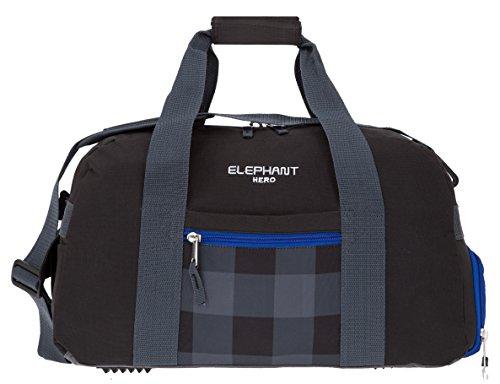 ELEPHANT HERO Signature Sporttasche mit Schuhfach Sport Tasche 12370 (Black Plaid) Black Plaid