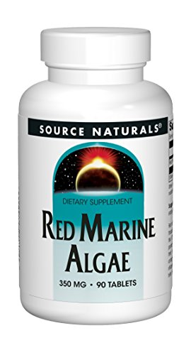 Red Naturals Marine Source (Source Naturals Red Marine Algae 350mg, 90 Tablets)