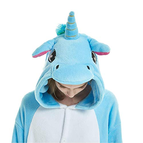 Nuovo Anime Halloween Kigurumi Pigiama Costume Cosplay Attrezzatura Blu Unicorno Abyed® wEZHxTzz
