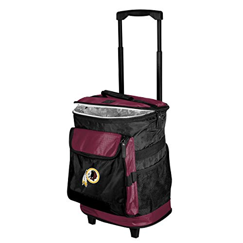 (Logo Brands Washington Redskins 48-Can Rolling Cooler with Wheels and Backpack Straps)