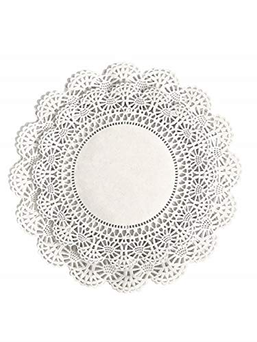White Round Paper Lace Table Doilies - 8 & 10 inches (combo pack of 200 - 100 of each) ()