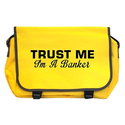 Trust Me I m A Banker Messenger Bag–Sonnenblume gelb