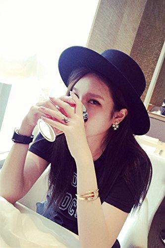 Generic Hat autumn winter _England_ retro _black hair tHat _little hat Korean_style_of shopping versatile_jazz_ cap hat _Visor