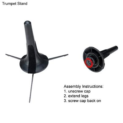Cecilio SD-TT Portable Trumpet Stand, Black by Cecilio Musical Instruments