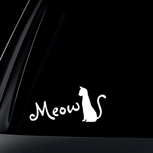 Silhouette Meow Lovers Decal Sticker product image