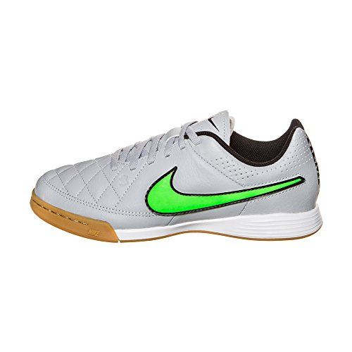 Wolf Football Genio Tiempo Grigio black Boots Nike Grey Leather black IC Junior Green Strike X8gxqwU