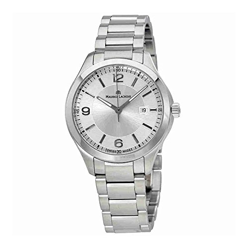 Maurice Lacroix Women's MI1014-SS002-130 Miros Analog Display Silver-Tone Watch