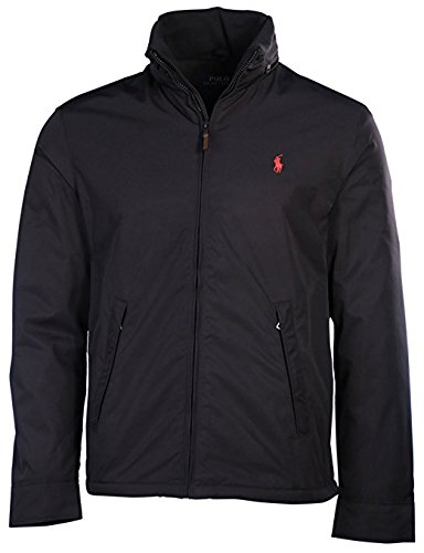 Polo Ralph Lauren Mens Perry Lined Winter Jacket (XL, RL Black/Red - Ralph Logo Red Polo Black Lauren