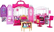 ​Barbie Glam Getaway Portable Dollhouse, 1 Story with Furniture, Accessories and Carrying Handle, for 3 to 7 Y