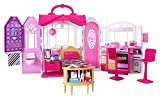 Barbie Glam Getaway Portable Dollhouse, 1 Story with Furniture, Accessories and Carrying Handle, for 3 to 7 Year Olds [Amazon Exclusive]