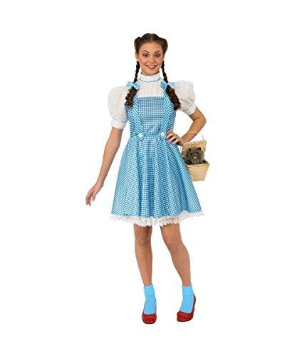 [Wizard of Oz Movie Kansas Dorothy Adult Womens Costume] (Dorothy Womens Costumes)