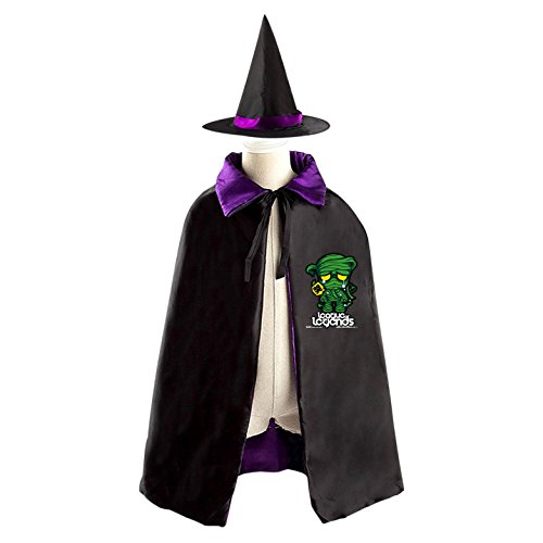 Halloween Costumes Kid Cape mummy League Children's Cloak with Hat Christmas