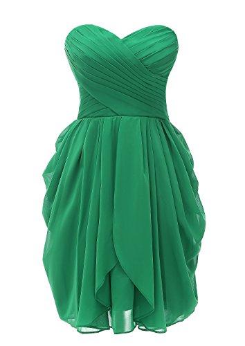 Kiss Dress Short Strapless Prom Dress Soft Chiffon Evening Dress (XL, - Dress Wedding Corset Sweetheart